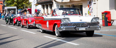 Group of classic cars royalty free stock photography