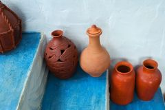 Group of clay jugs Stock Photos