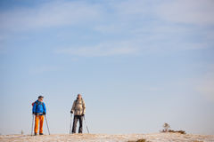 A group of climbers in the mountains. Royalty Free Stock Image