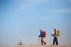 A group of climbers in the mountains. Royalty Free Stock Images