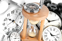 Group of clocks Stock Photo