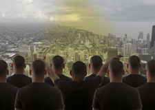 Group cloning man Royalty Free Stock Photos