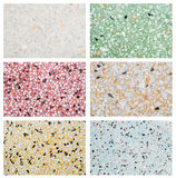 Group of closeup surface marble floor texture background Royalty Free Stock Photos