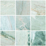 Group of closeup surface marble stone wall texture background Stock Image