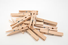 Group of clothes peg Royalty Free Stock Images