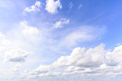 Group of cloud and blue sky Royalty Free Stock Image