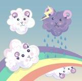 Group of cloud sheep, Stock Photos