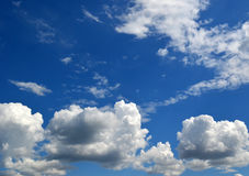 Group of clouds in blue sky Stock Image