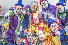 Group of clowns Stock Images
