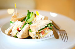 Group of club sandwiches Royalty Free Stock Photo