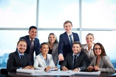Group of co-workers Royalty Free Stock Image