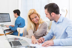 Group of co workers at the office Royalty Free Stock Image
