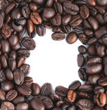 Group of coffee bean seed  with free space Stock Photos