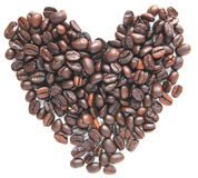 Group of coffee bean seed  like a heart form Stock Photo