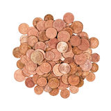 Group of coins isolated Stock Images