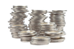 A group of coins in rolls Stock Photography