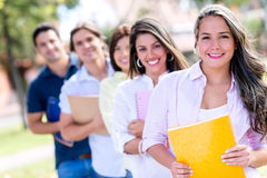 Group of collage students Royalty Free Stock Photography