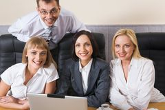Group of colleagues Stock Photo