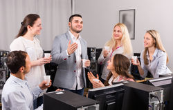 Group of colleagues drinking champagne Royalty Free Stock Images