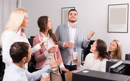 Group colleagues drinking champagne Royalty Free Stock Photography