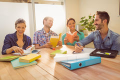 Group of colleagues reading books Royalty Free Stock Images