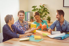 Group of colleagues reading books Stock Photos