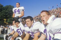 Group of College football players Royalty Free Stock Photos