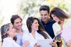 Group of college friends Royalty Free Stock Photos