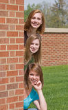 Group of College Girls. At School Royalty Free Stock Photo