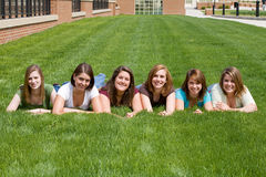 Group of College Girls Royalty Free Stock Photo