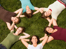 Group of College Girls Royalty Free Stock Image