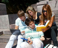 Group of college students Royalty Free Stock Photo