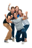 Group of the college students Stock Photography