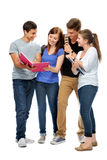 Group of the college students Stock Photos