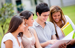 Group of college students Stock Photography