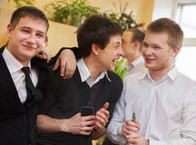 Group of college students during a brake Royalty Free Stock Photography
