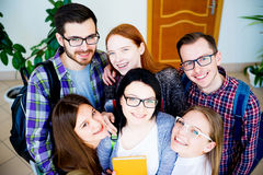 Group of college students royalty free stock photos