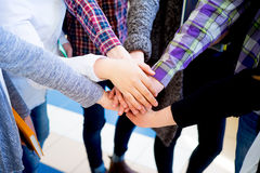 Group of college students stock image