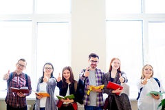 Group of college students. A group of college students on campus Stock Image