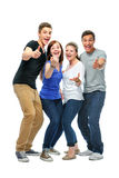 Group of the college students Royalty Free Stock Image