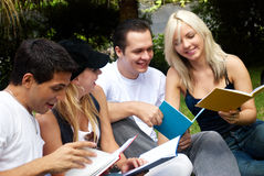 Group of college students outdoors Stock Photography