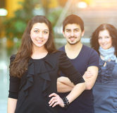 Group of college students smiling Stock Photography