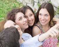 Group of college/university students Royalty Free Stock Images