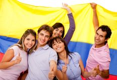Group of Colombian friends Stock Photo