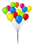 Group of color balloons. In the air Stock Images