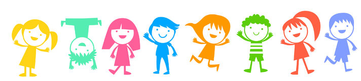 Group of color children Royalty Free Stock Photo