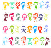Group of color children Stock Images