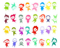 Group of color children Royalty Free Stock Images