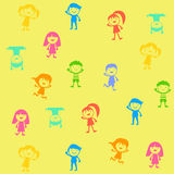 Group of color children Royalty Free Stock Image