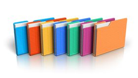 Group of color folders Royalty Free Stock Photos